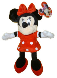 "Plush Disney Minnie Mouse Red Outfit 9"" 100390"