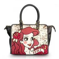 Hand Bag Disney Princess Ariel Printed Canvas with Shoulder Strap