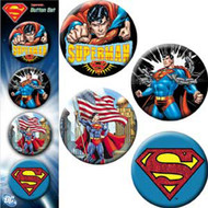 Button DC Comic Assorted Logo Set of 4 Pin Pack