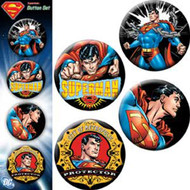Button DC Comic Superman Hero Set of 4 Pin Pack