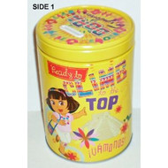 Round Coin Bank Dora the Explorer Ready to Climb Tin Box 465207-1