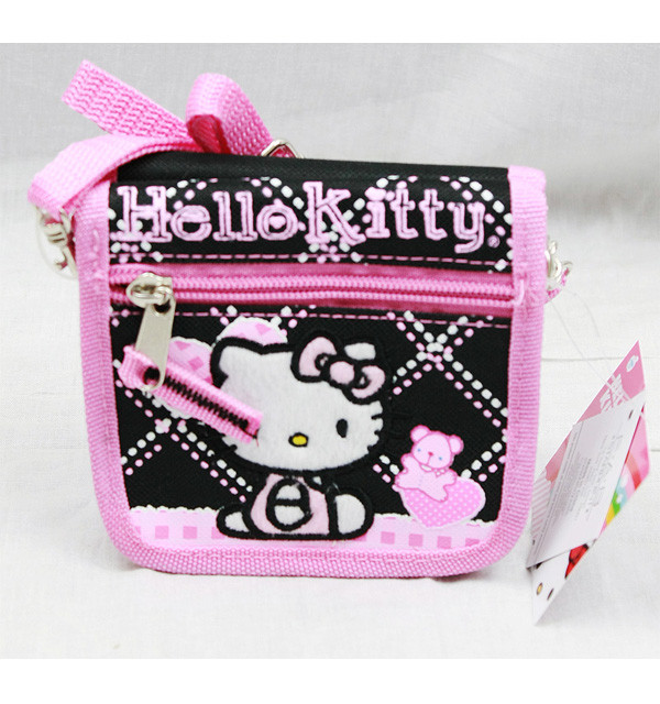 5e8dfee62 String Wallet Hello Kitty Black Hearts Bear Gift 81586 - Hobby Hunters