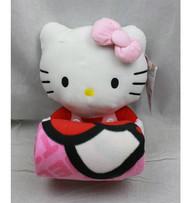 Blanket Hello Kitty Plush Doll & Blanket (Pink Bow) Set Fleece 68390