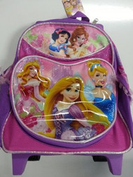 Small Rolling Backpack Disney Princess Lovely and Sweet Bag 629250