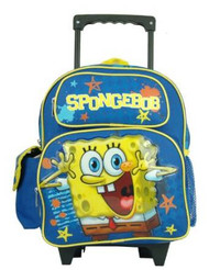 Small Rolling Backpack Spongebob Happy School Bag 802834