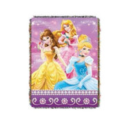 Tapestry Throw Disney Princess Sparkle Dream Woven Blanket 284296