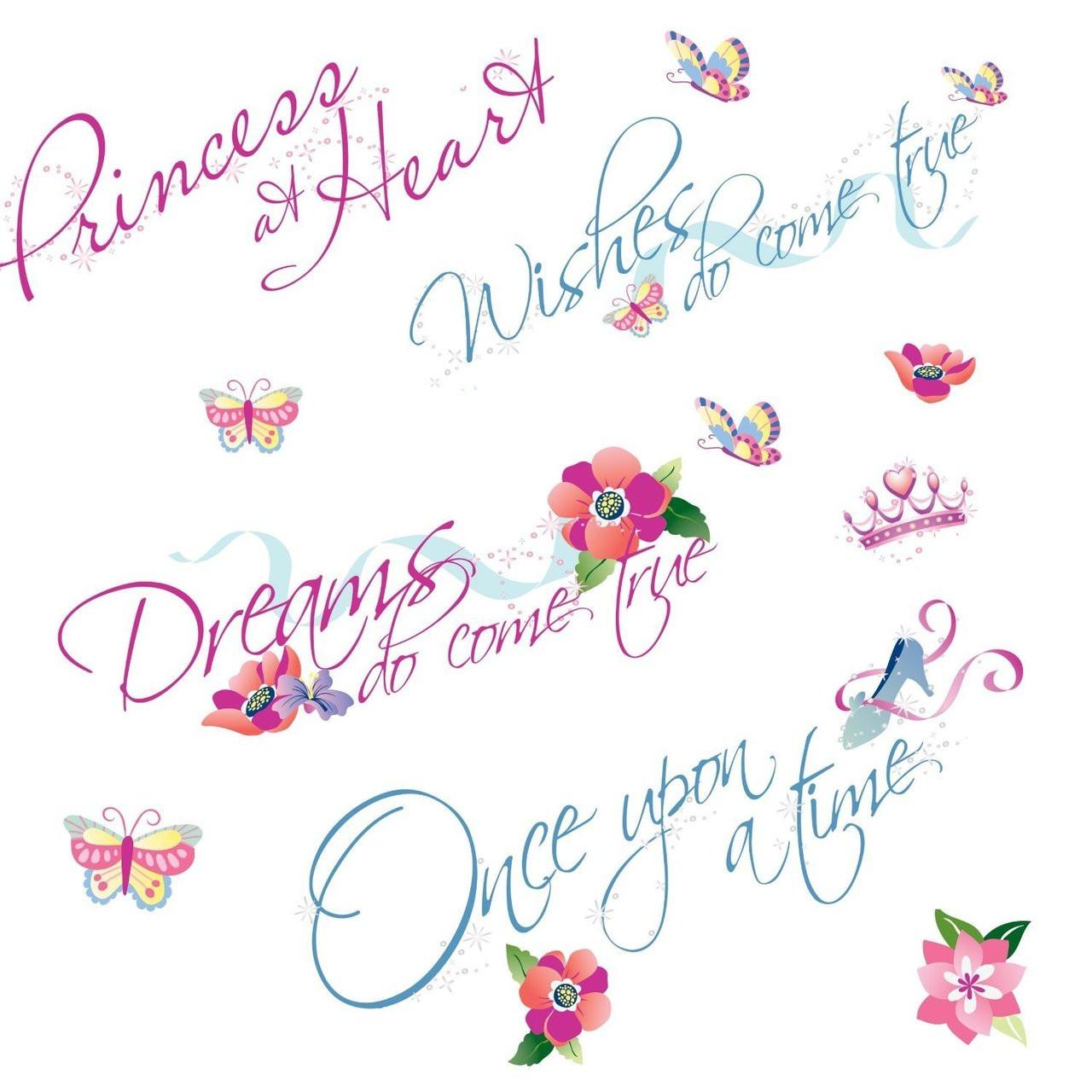 Wall Decal Disney Princess Princess Quotes Peelstick Kids Art