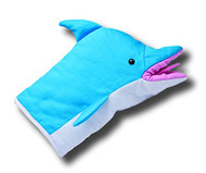 Plush Archer Pam's Dolphin Oven Mitt Hand Puppet Soft Doll Licensed