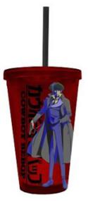 Plastic Travel Mug Cowboy Bebop Red cc-bop-splg