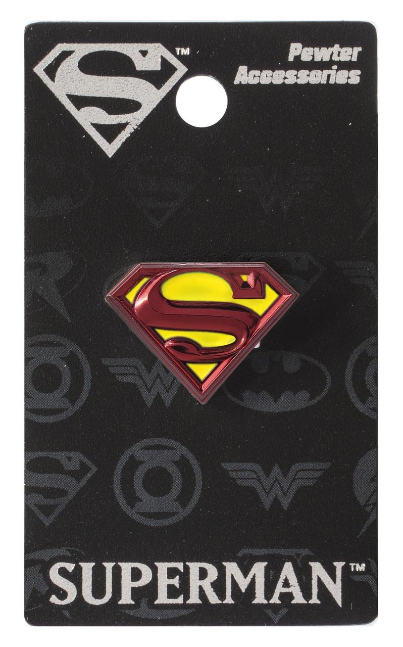 475cc445b32 Lapel Pin DC Comics Superman Logo Pewter Colored 48386 - Hobby Hunters