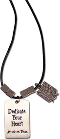 Necklace Attack on Titan Scouting Regiment w/ Metal Tag ge36490