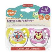 Pacifiers Ulubulu Hearts & Owls 6-18M