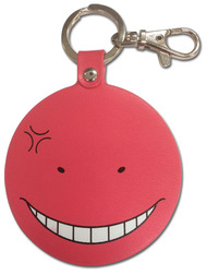Key Chain Assassination Classroom Koro Sensei Angry RED PU ge38593