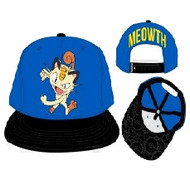 Baseball Cap Pokemon Meowth Color Block Snapback sb3f3vpok