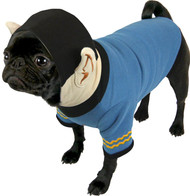 Dog TShirt Star Trek Spock Blue HoodieXL ST255
