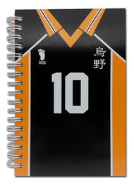 Notebook Haikyu!! Number 10 Team Uniform Hard Cover ge43562