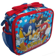 Lunch Bag Sonic the Hedghog Team w/Shadow Knuckles Tails Red/Blue 136295