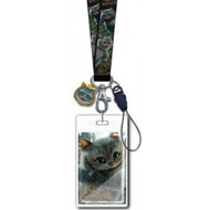 Lanyard Alice in Wonderland Chesire Cat w/ Soft Touch Dangle 25324