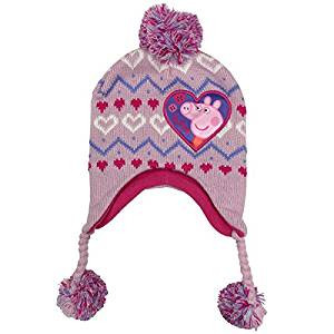 Laplander Hat Peppa Pig Pink Knit w Ear Flaps Beanie Cap Youth Kids.  http   store-svx5q.mybigcommerce.com product images web  651b60648259