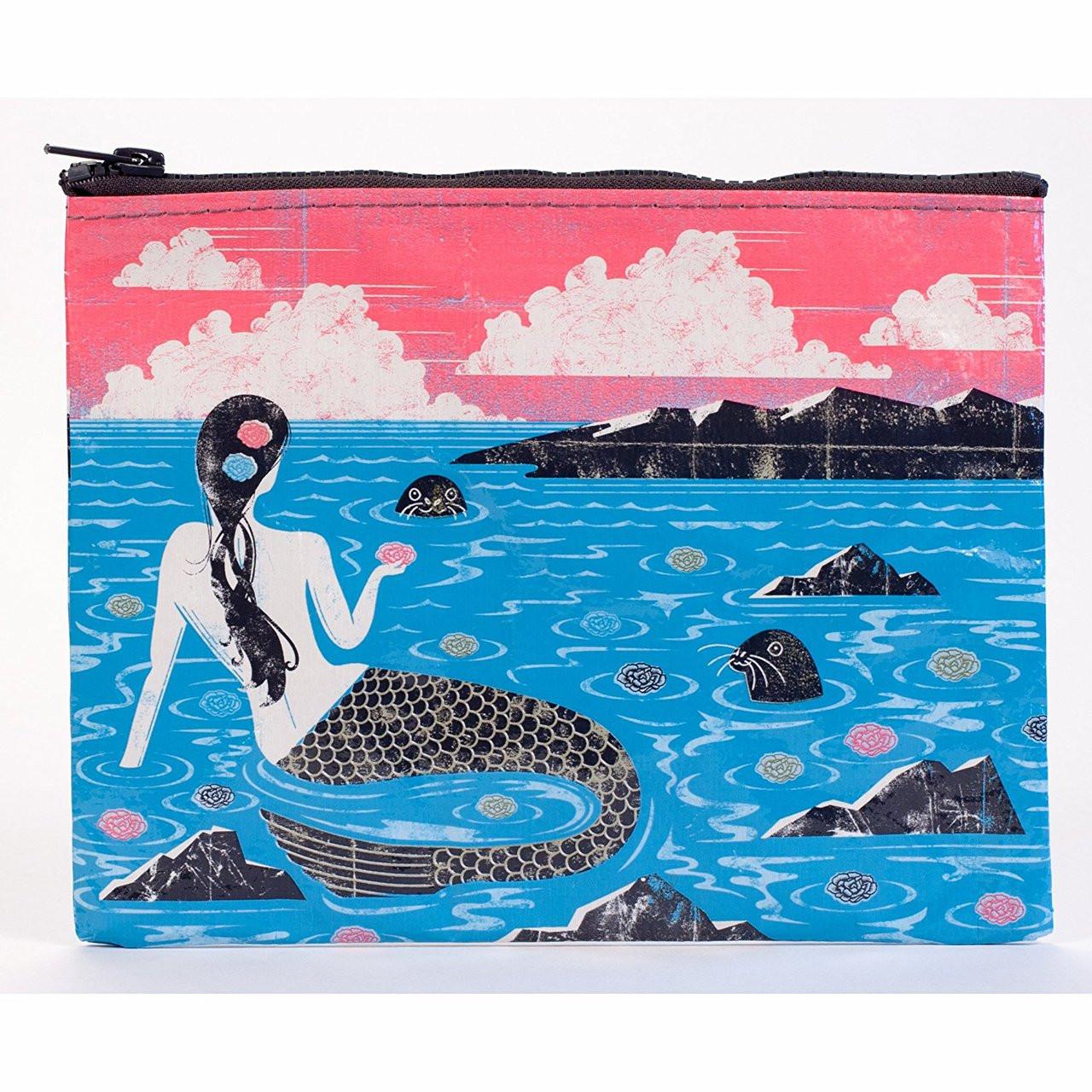 """Mermaid 9x7/"""" File Pocket Bag QA253 Blue Q Zipper Pouch"""