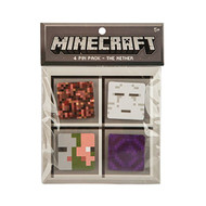 Pin Minecraft Nether 4 Button Pack (Block, Ghast, Zombie Pigman, Portal) j6216