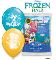 "Party Supplies Pioneer Latex Balloons 6 ct 12"" Disney Frozen Fever 23064"