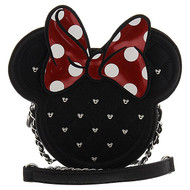 Hand Bag Disney Minnie Mouse Die Cut Quilted Crossbody Chain Purse wdtb0665