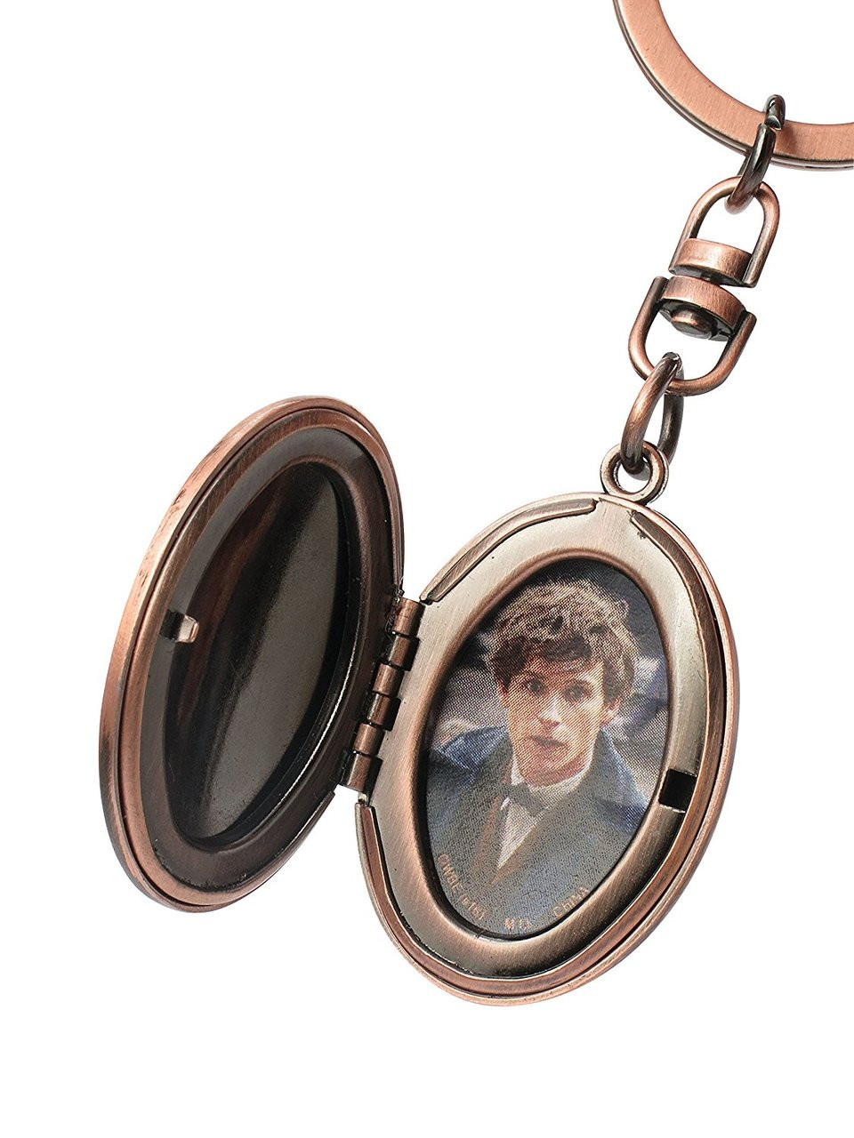 Metal Key Chain Fantastic Beast Picture Holder Pewter Key Ring New 48158