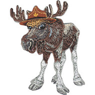 Patch Animal Club Moose Iron-On p-4528