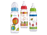 Baby Feeding Nuby Clear Printed Bottles 8oz (1 Only) Vary Color 1160