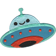 Patch Aliens Flying Saucer Iron-On p-4511