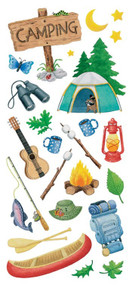 Clear Sticker Camping 5.5'' x 12'' pscb13