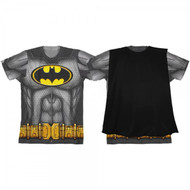 T-Shirt Batman Boys Sublimated Cape Tee-L Costume Cosplay ts4kjrbtm-l
