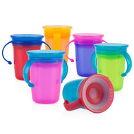 Baby Feeding Nuby No-Spill Twin Handle 360 Wonder Cup 1-Only Vary Color 10378