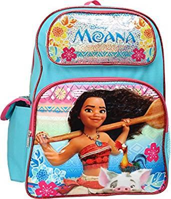 abdac20357 Backpack Disney Moana w Pua Pink Blue 16