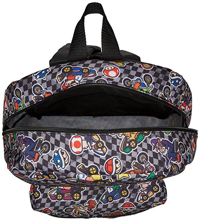 0cddbedfafe1 Backpack Nintendo Super Mario Kart All Over Print Black Gray 16