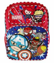 "Backpack Marvel Avengers Cute Red 16"" School Bag 694609"