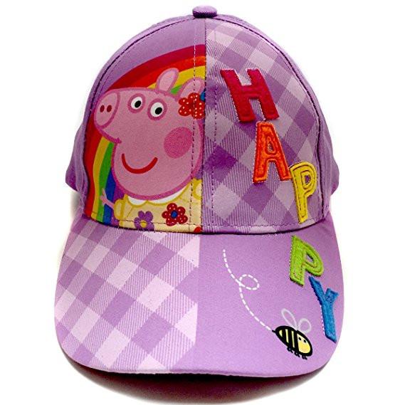 Baseball Cap Peppa Pig Purple Happy Youth Kids Size Hat 154862.  http   store-svx5q.mybigcommerce.com product images web  637854de8e6