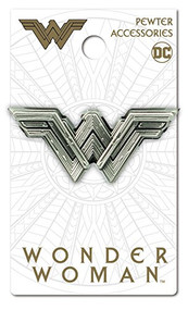 Pin DC Comics Wonder Woman Movie Logo Pewter Lapel 45747