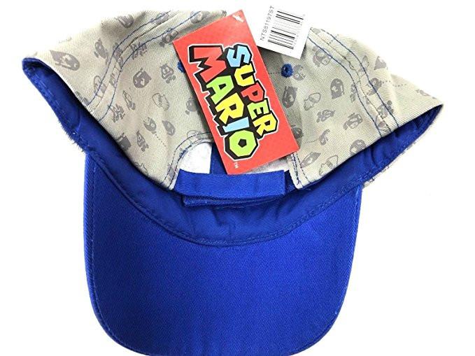 1d64aa8eed Baseball Cap Nintendo Super Mario Gray Blue Kids Hat - Hobby Hunters