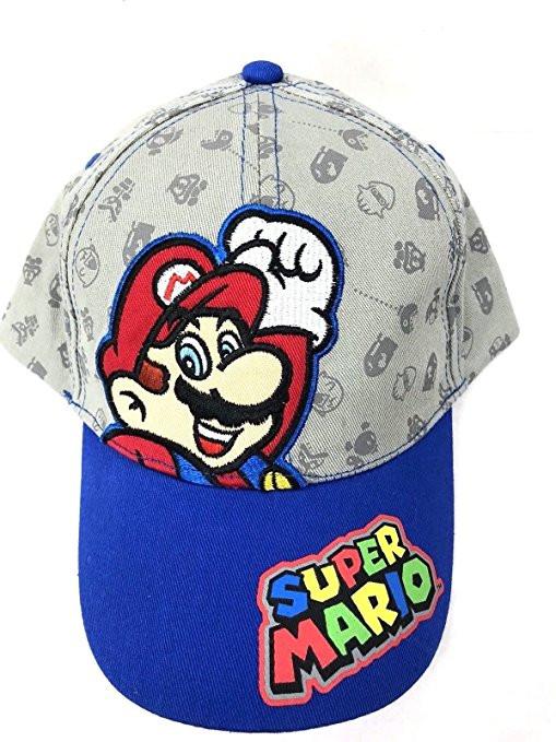 831555a09ce6f Baseball Cap Nintendo Super Mario Gray Blue Kids Hat. Previous.  http   store-svx5q.mybigcommerce.com product images web