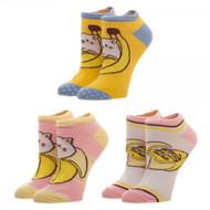 Ankle Sock Bananya 3 Pack Juniors xs61vvcru