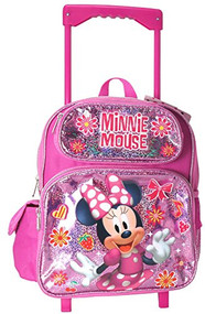 Small Rolling Backpack Disney Minnie Mouse Shiny 002077
