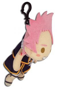 Key Chain Fairy Tail Natsu Pinched 5.5'' Plush Doll ge52375