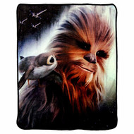 Super Soft Throws The Last Jedi Chewies Back 45x60""
