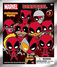 Key Chain 3D PVC Foam Collectible KR Marvel Deadpool Series 3 68595