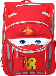 Mini Backpack Disney Cars McQueen Red/Silver Face New 001544
