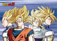 Wall Scroll Dragon Ball Z Cell Saga Super Saiyans [LONG] ge86527
