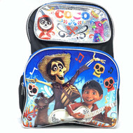 "Backpack Disney CoCo Black/Silver 16"" Scool Bag 004255"