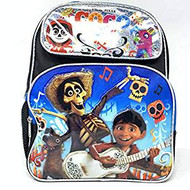 "Small Backpack Disney CoCo Black/Silver 12"" School Bag 004231"
